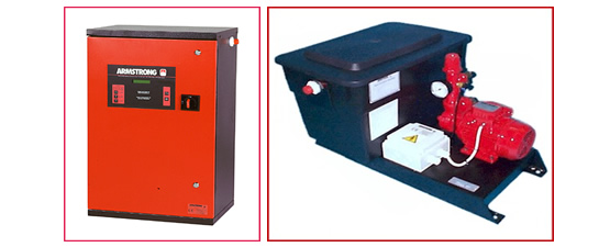 Armstrong pressurisation units